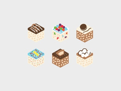 Treat House Icons birthday color icon set food illustration icon dessert treat
