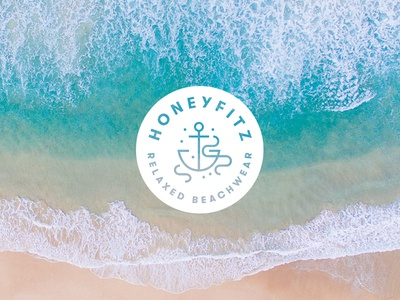Honeyfitz Reject mark icon water illustration sea anchor logo design branding logo ocean beachwear beach