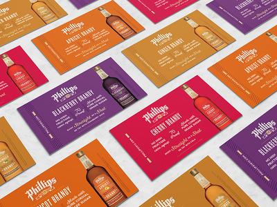 Flavored Brandies Shelf Talkers branding typography redesign label design print bottle shot pos distillery phillips brandy