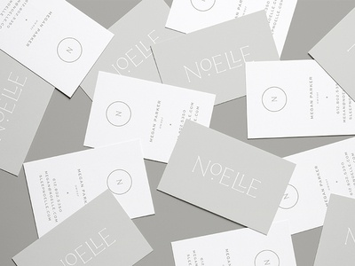 Noelle Business Cards moon star typography sleeping sleep business cards mark logo design logo branding