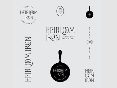Heirloom Iron Branding lettering vintage cast iron monogram branding custom type logo design logo