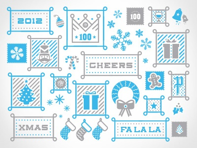 Xmas Elements reef 2012 xmas christmas holidays snow presents tree snowflakes gifts bells nutcracker 100 cheers