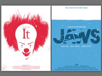 """""""It"""" and """"Jaws"""" Movie Poster Concepts"""