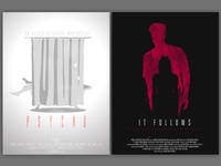 """""""Psycho"""" and """"It Follows"""" Movies Poster Concepts"""