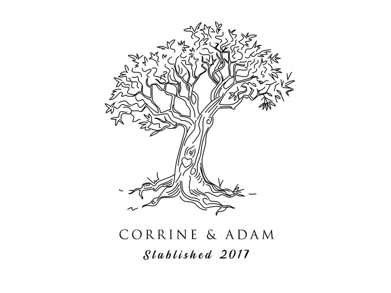 Corrine & Adam art illustration