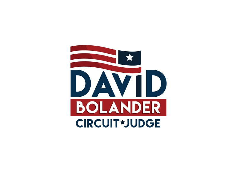 David Boolander - Circuit Judge political logo logodesign