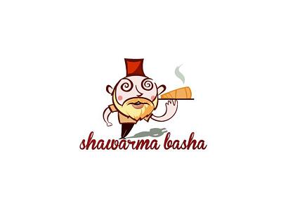 Sharwarma Basha illustration logo
