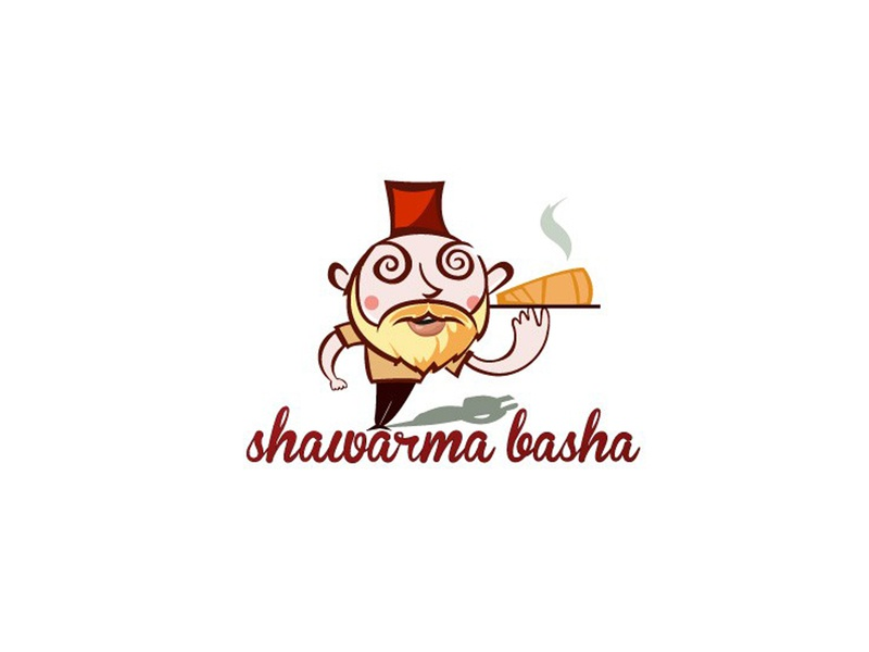 Sharwarma Basha illustration logo