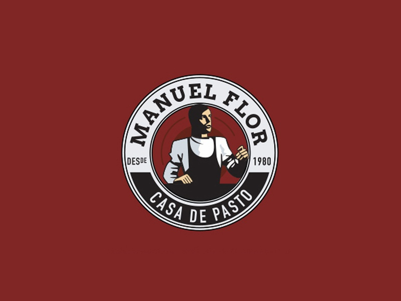 Manuel Flor logo illustration logodesign logo