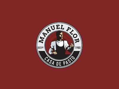 Manuel Flor logo illustration logodesign logo