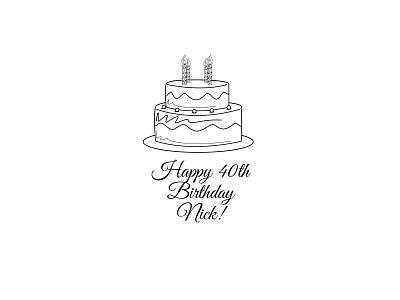 Happy 40th Birthday vector illustrator
