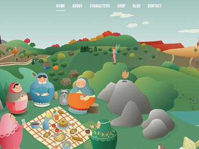 The Story of Babushka illustrator animation website