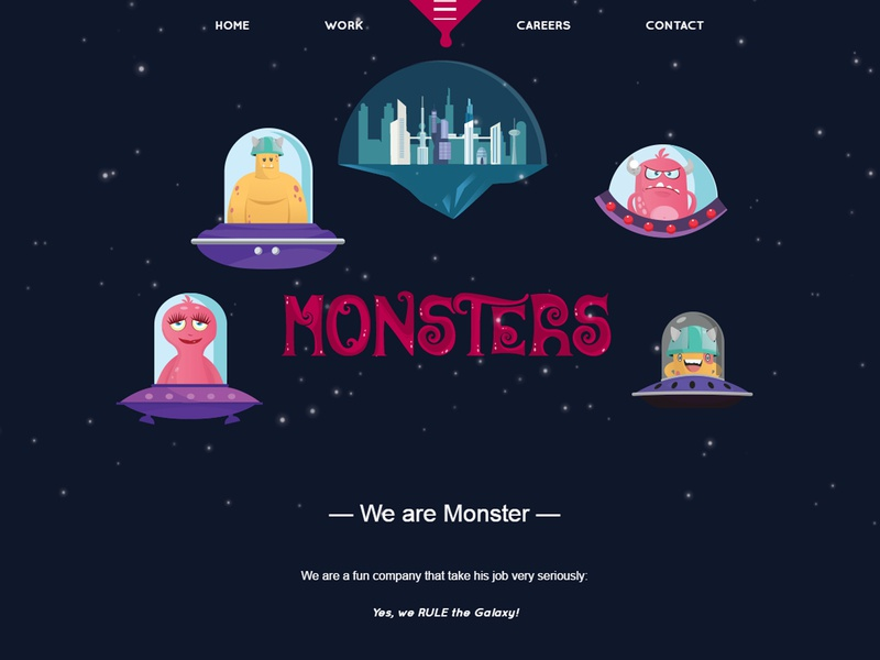 Monsters wordpress illustration
