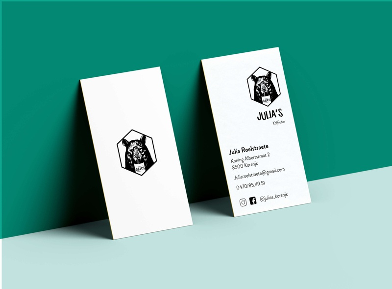 Businesscard Julia's kortrijk