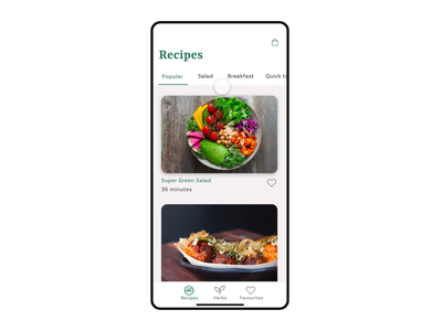 Herbs & Recipes Market dailyui application illustration brand app restaurant flat branding apple animation ui uxdesign design adobe xd minimal ux