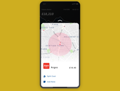 Banking App - receipt