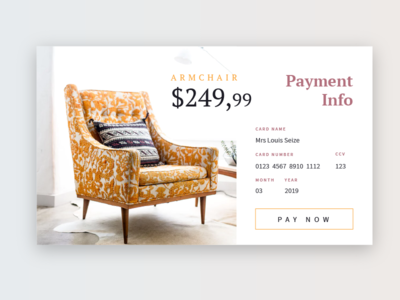Daily UI #002 - Product Checkout