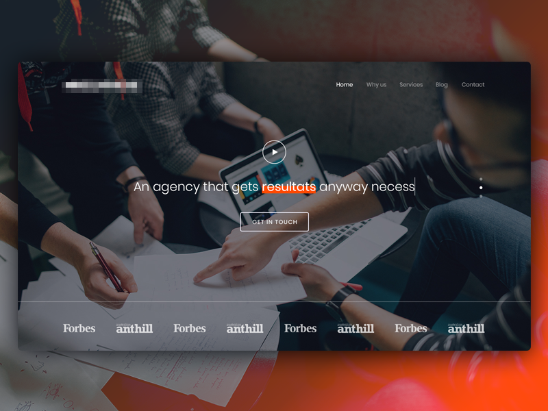 Marketing Agency website rework dark white landing hero header webdesign ux ui digital agency marketing