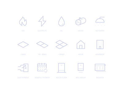 Heating - Icon Set