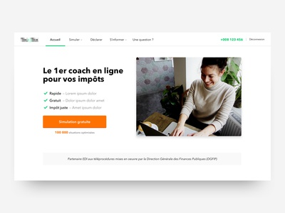 Homepage concept - Fintech