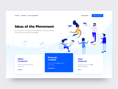 A democratic tool landing page