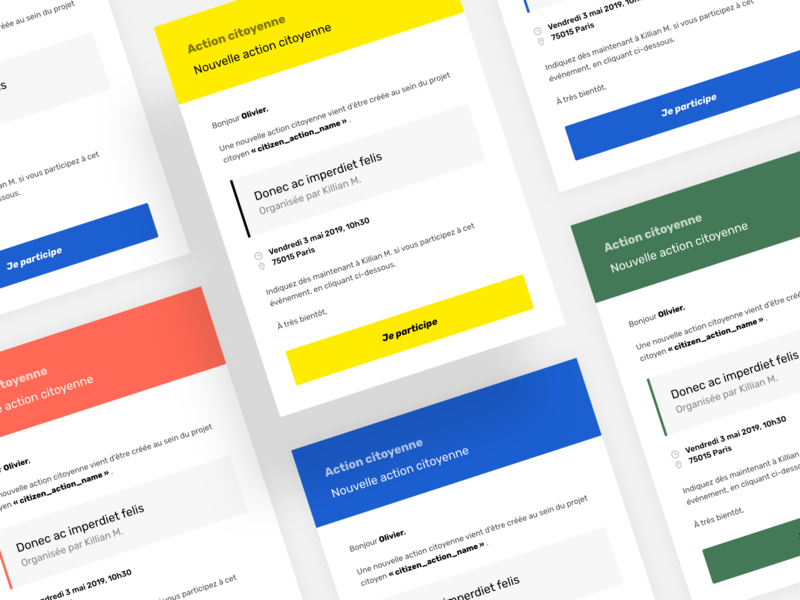 Email template transactional ui template email