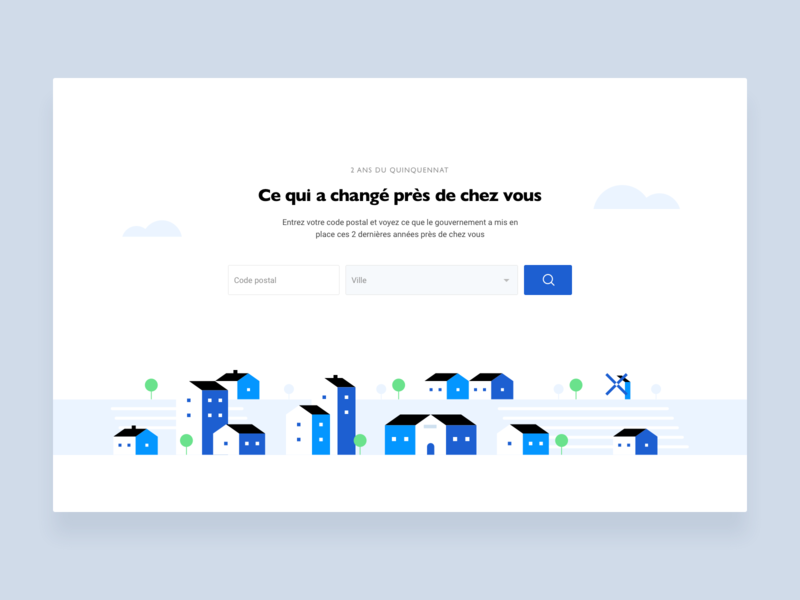 Near you town city search localisation illustration landing interface ui webdesign