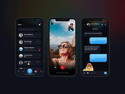 Telegram App Redesign ios application chat ux design ui design telegram redesign telegram dark app dark ui interface messenger nextpage web app design application design mobile app design design redesign mobile ux ui