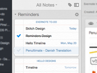 Evernote Reminders for Mac