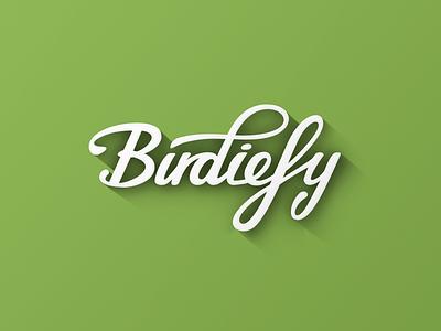 Birdiefy Logo logo birdiefy golf flat design flat shadow lighting green white long