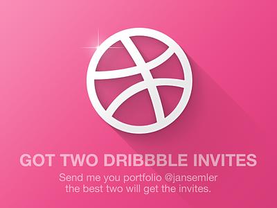 Dribbble Invites invite dribbble free portfolio send prospect invites twitter