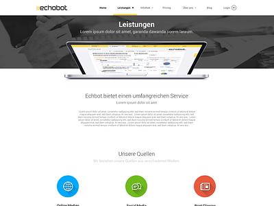 Echobot Overview long shadow german flat echobot web design interface visual yellow black colorful cirlce