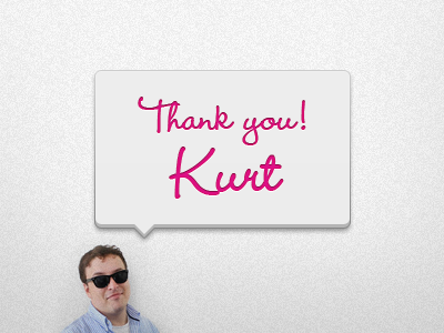 Thank you Kurt invite thank you