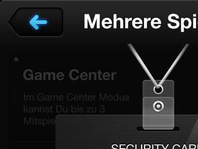 Mulitplayer Access gui ui interface back button card id sercurity v card game play gloss light gradient