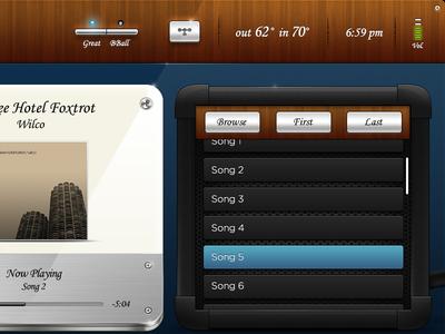 Blues iPad Room Control