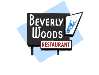 Beverly Woods signage adobe fresco illustration chicago