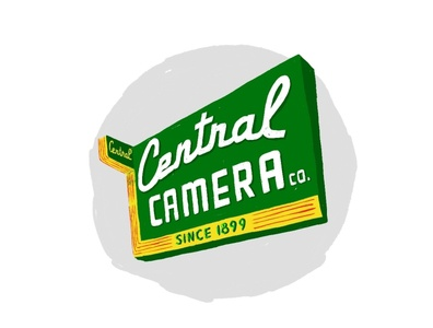 Central Camera adobe fresco camera supply neon sign neon illustration chicago