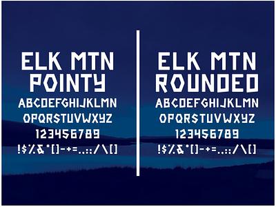 FREE Elk Mtn Font type design typedesign free fonts free font font