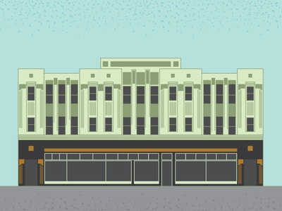 Chicago Bee Building architecture library illustration art deco chicago