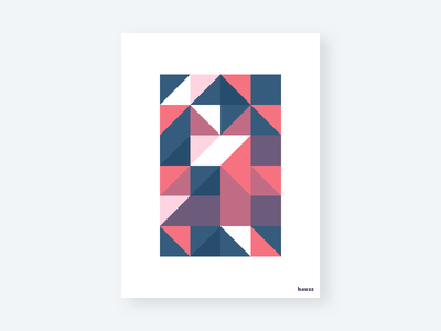 hauzz poster poster geometric illustration triangles triangle shapes geometric houses hauzz house