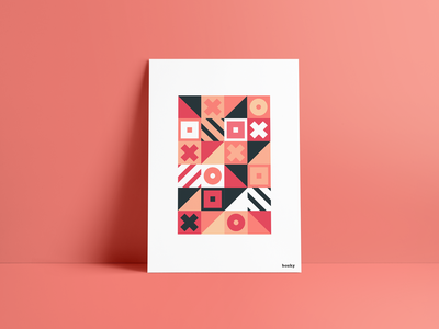 bozky poster bozky poster shape shapes geometric