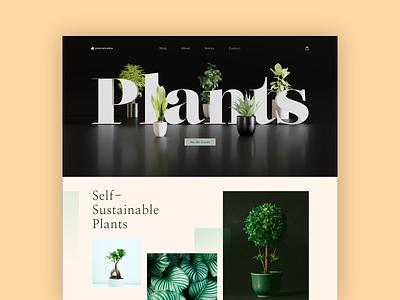 Plantainable render blender nature landing homepage plants plant