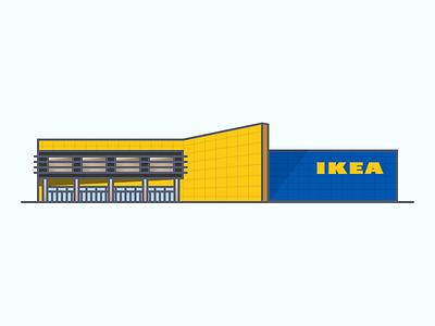 IKEA Building Illustration indy sweden swedish ohio fishers netherlands furniture indiana indianapolis building ikea illustration