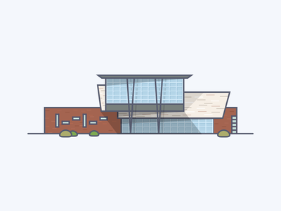 University High School indy brick panel glass texture carmel building school indianapolis indiana illustration