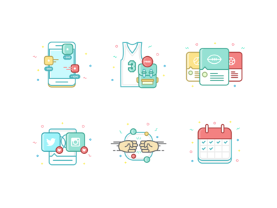 Colorful Feed Icons