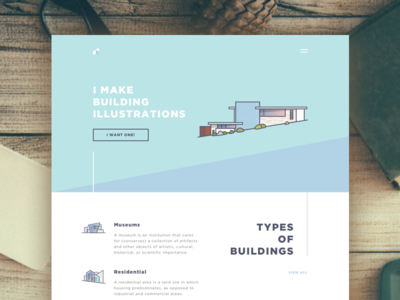 IllBuil Landing corporate residential museum illustrations illustration angle diagonal soft icons architecture building landing