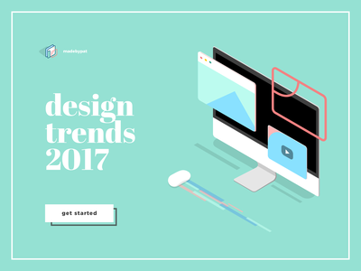 Design Trends 2017 float motion mac sketch principle video browser imac flat trends trend isometric