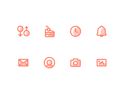 Outpatient Health / Medical Icons 2 picture notification photos account photo camera profile email bell notifications clock time cake birthday gender icons app outpatient health