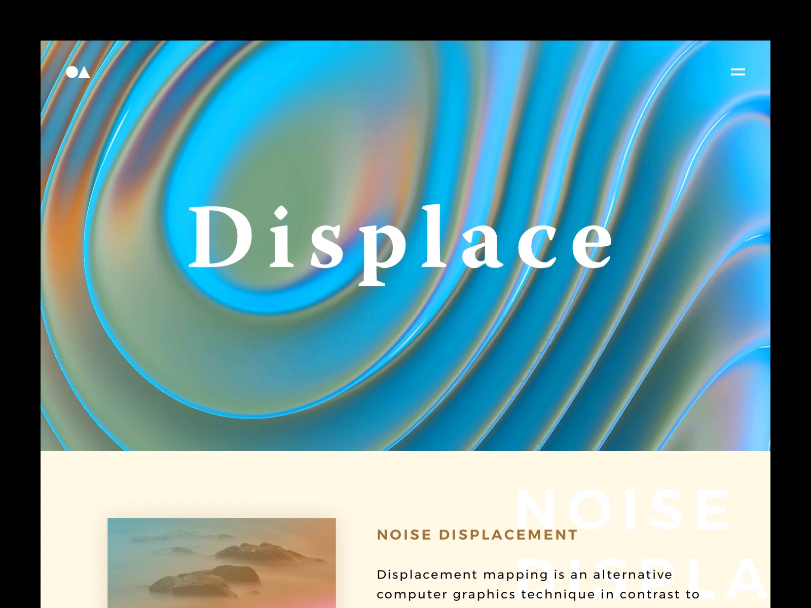 Displace noise displacement