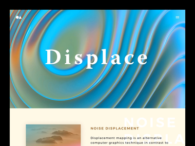 Displace Hero madebypat ripples ripple indianapolis warnock cinema4d abstract homepage oil noise hero displace
